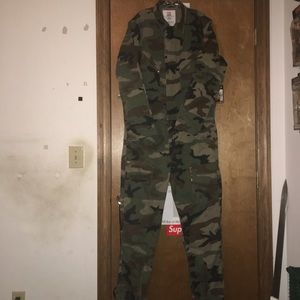 Supreme flight suit woodland camo size large.